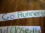 go runners marathon sign