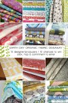 betz white with 11 other fabric designers to giveway organic fabric