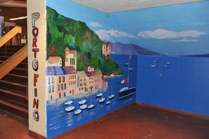 mural at newton north photo sharon schindler