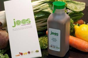 Joos brochure and bottle with veggie